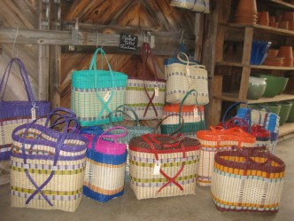 Colorful market/beach baskets!